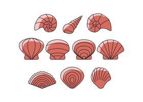 Vetor de ícones shells