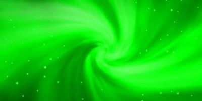 fundo verde claro com estrelas coloridas.