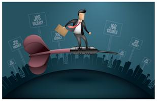 Vôo do buscador de emprego vetor