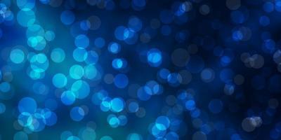 padrão azul escuro com esferas.