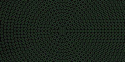 fundo verde escuro com círculos.