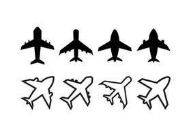 modelo de design de ícone de avião vetor