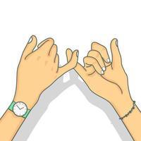 mãos fazendo um gesto de promessa com o dedo mínimo