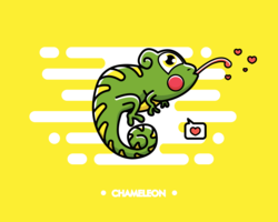 vetor de camaleão grátis