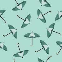 padrão sem emenda de guarda-chuvas verdes vetor