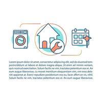 modelo linear de conceito de serviço de limpeza de casa vetor