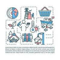 ícone do conceito de consumo excessivo com texto. vetor
