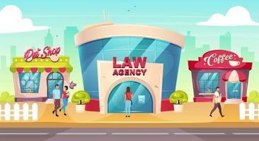 agência de advocacia centro da cidade vetor