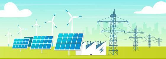 estação de energia alternativa vetor