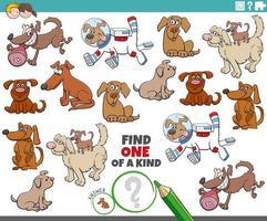 único com cães de desenho animado vetor