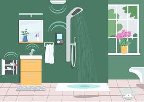 tecnologia de chuveiro inteligente vetor