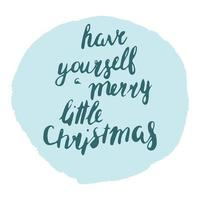 tenha um feliz natal vetor