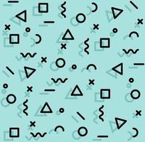padrão uniforme de formas divertidas de estilo memphis vetor