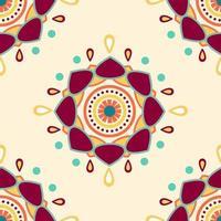 padrão sem emenda de mandalas abstratas coloridas vetor