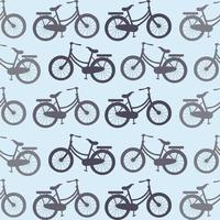 padrão sem emenda de bicicletas retrô