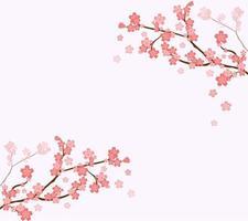 galhos de cerejeira fofos vetor
