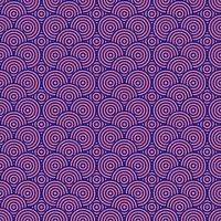 fundo padrão sem emenda de círculos rosa e azul vetor