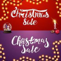 venda de natal, conjunto de inscrições manuscritas