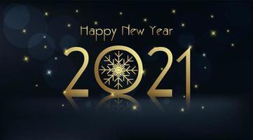 feliz ano novo 2021 em fundo escuro