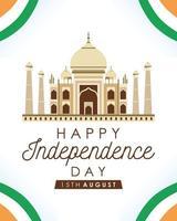 feliz pôster de celebração do dia da independência da Índia