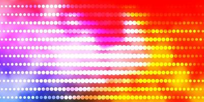 modelo multicolor com círculos. vetor