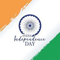 cartão de celebração do feliz dia da independência da índia