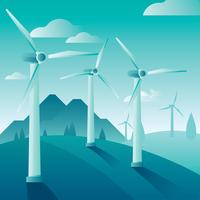 Planta de energia eólica Recursos naturais vetor