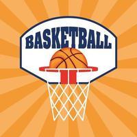 banner de basquete e esportes vetor