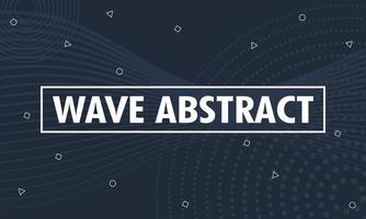 fundo abstrato com ondas e formas geométricas vetor