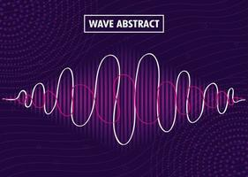 fundo abstrato com ondas sonoras vetor