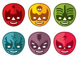 Colorido Mexicano Lutador Máscara Vector