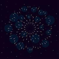 fogos de artifício explodem no céu à noite