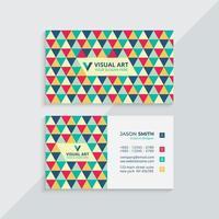cartão de visita colorido elegante vetor