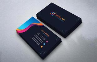 cartão de visita moderno com formas coloridas vetor
