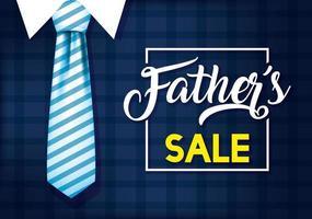 banner de venda do dia do pai com ícones masculinos antigos
