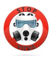 respirador máscara respiratória para proteção contra vírus vetor