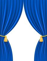 cortina teatral azul vetor