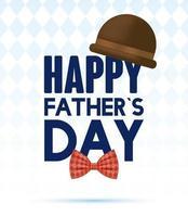 banner do dia do pai com ícones masculinos antigos
