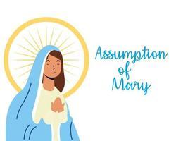 assunção milagrosa da celebração da virgem maria