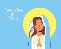 assunção milagrosa da celebração da virgem maria vetor