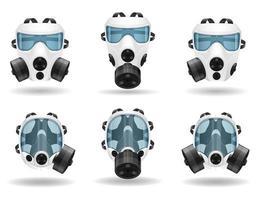 máscara respiratória respiratória para conjunto de proteção vetor