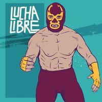 Ilustração da pose de Luchador vetor
