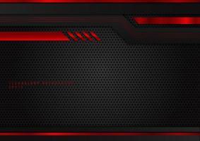 tecnologia abstrata geométrica cor vermelha e preta