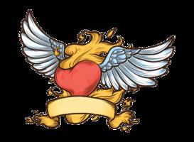 Ilustração do vetor do coração flamejante