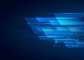 linhas geométricas azuis abstratas sobrepondo o movimento da camada. vetor