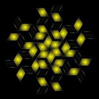 padrão fractal em forma de estrela vetor