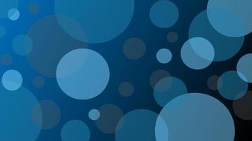 fundo abstrato da bolha do círculo azul escuro vetor