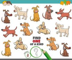 tarefa única para crianças com cães vetor