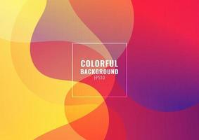 fundo de forma gradiente colorido fluido abstrato vetor