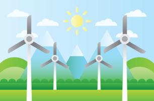 Turbinas Eólicas Recursos Naturais vetor